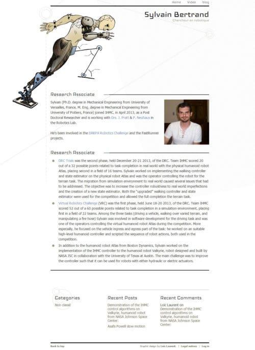 Le site sylvainrobotics.com
