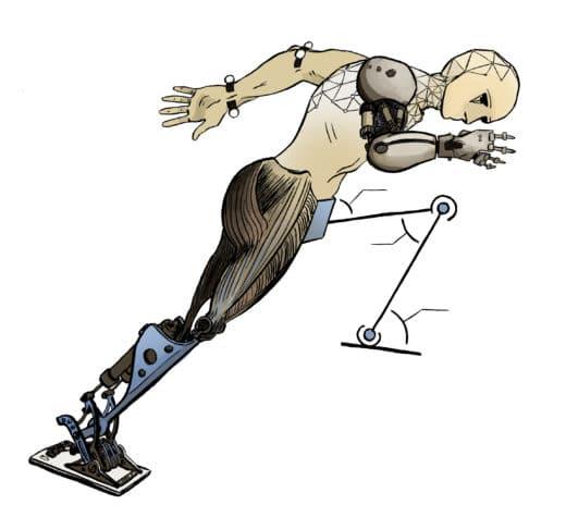 Mascotte pour chercheur en robotique humanoïde