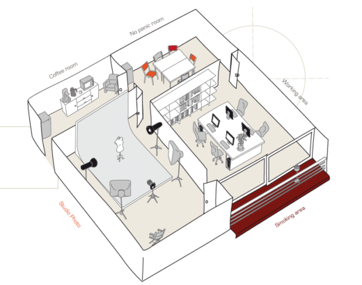 Plan de l'agence Omni Design Studio